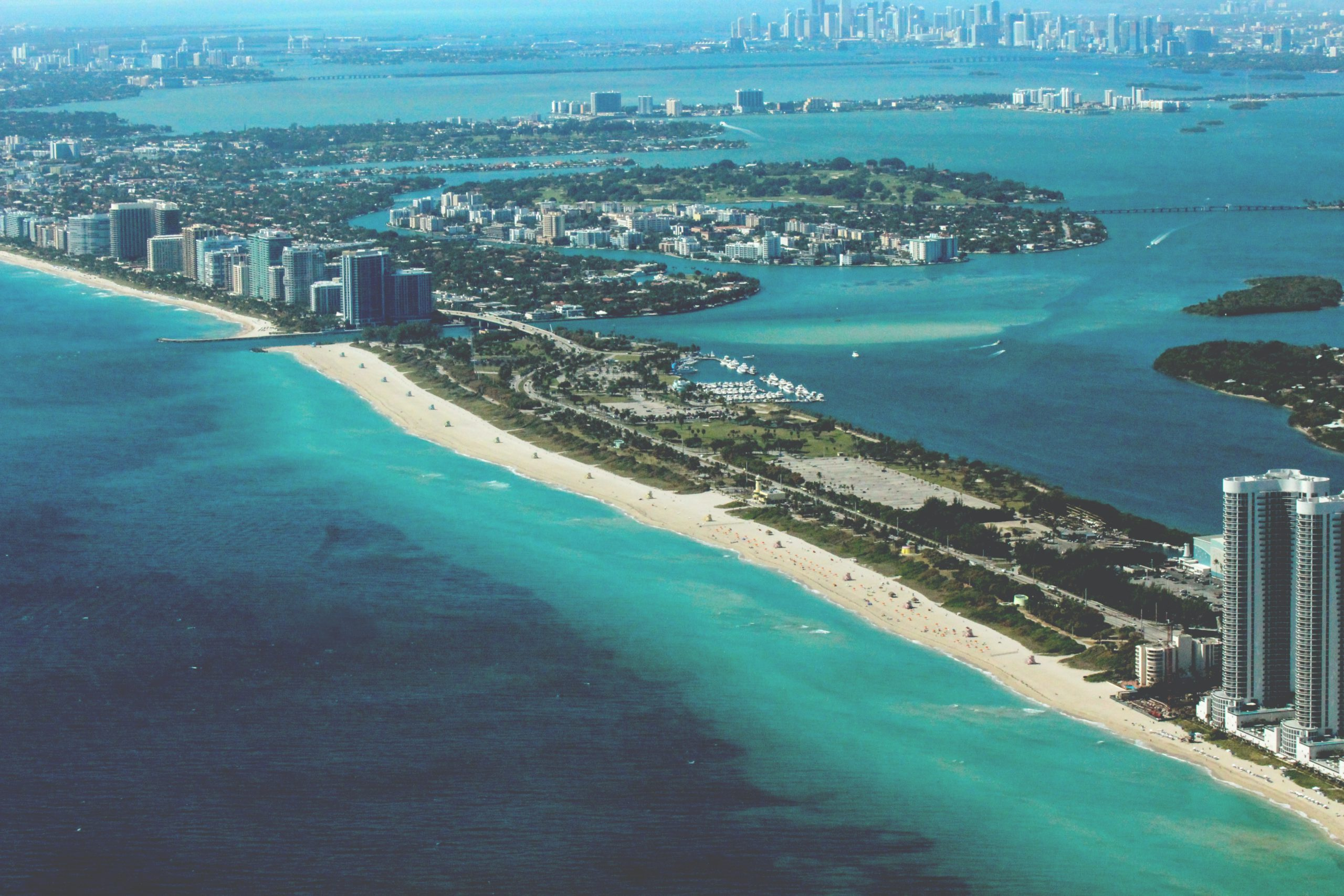 Hotels in Miami on the map